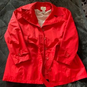 Red White Stag Rain Coat